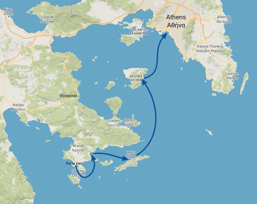 Route Saronic B
